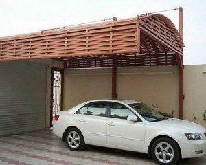 مظلات سيارات خشب