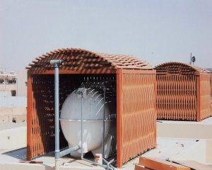 مظلات تغطية خزانات المياه لأسطح المنازل